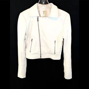 L'AGENCE LAMBS LEATHER JACKET